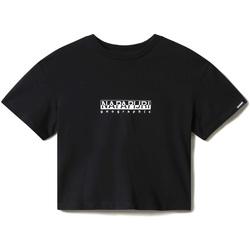 Textil Ženy Trička s krátkým rukávem Napapijri NP0A4EYZ Černá