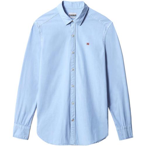 Textil Muži Košile s dlouhymi rukávy Napapijri NP0A4F84 Modrý