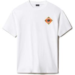 Textil Trička s krátkým rukávem Napapijri NP0A4F5M Bílý