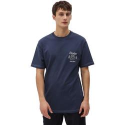 Textil Muži Trička s krátkým rukávem Dickies DK0A4X9NNV01 Modrý