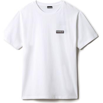 Textil Trička s krátkým rukávem Napapijri NP0A4FG8 Bílý