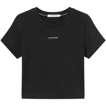Textil Ženy Trička s krátkým rukávem Calvin Klein Jeans J20J215699 Černá