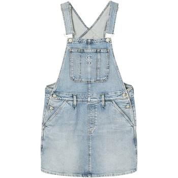 Textil Ženy Overaly / Kalhoty s laclem Calvin Klein Jeans J20J216306 Modrý