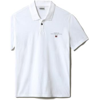 Textil Muži Polo s krátkými rukávy Napapijri NP0A4F9P Bílý