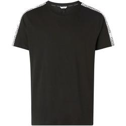 Textil Muži Trička s krátkým rukávem Calvin Klein Jeans KM0KM00607 Černá