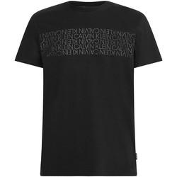 Textil Muži Trička s krátkým rukávem Calvin Klein Jeans K10K106961 Černá