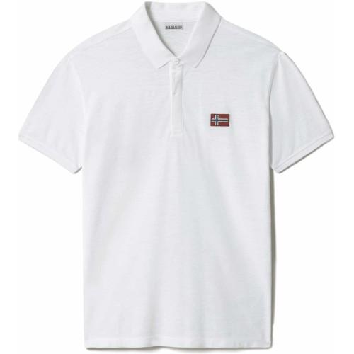 Textil Muži Polo s krátkými rukávy Napapijri NP0A4F6F Bílý