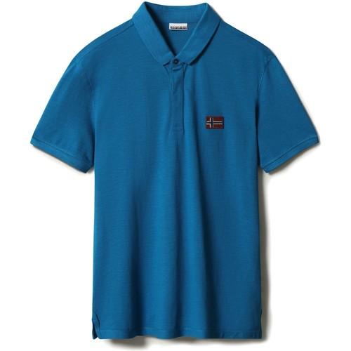 Textil Muži Polo s krátkými rukávy Napapijri NP0A4F6F Modrý