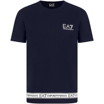 Textil Muži Trička s krátkým rukávem Ea7 Emporio Armani 3KPT05 PJ03Z Modrý
