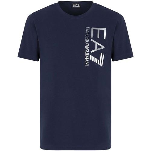 Textil Muži Trička s krátkým rukávem Ea7 Emporio Armani 3KPT10 PJ7RZ Modrý