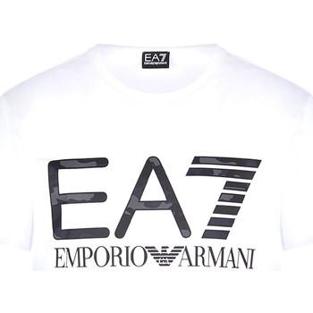 Textil Muži Trička s krátkým rukávem Ea7 Emporio Armani 3KPT27 PJ7CZ Bílý