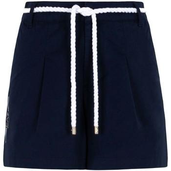 Textil Ženy Kraťasy / Bermudy Ea7 Emporio Armani 3KTS54 TN3EZ Modrý