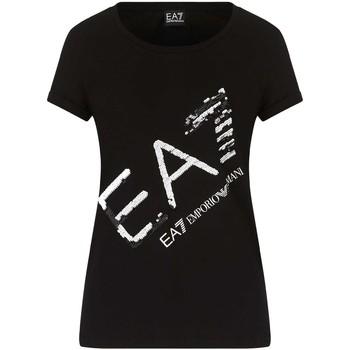 Textil Ženy Trička s krátkým rukávem Ea7 Emporio Armani 3KTT28 TJ12Z Černá