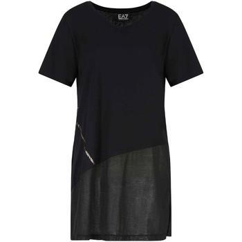 Textil Ženy Trička s krátkým rukávem Ea7 Emporio Armani 3KTT36 TJ4PZ Černá