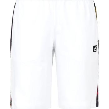 Textil Muži Plavky / Kraťasy Ea7 Emporio Armani 3KPS81 PJ05Z Bílý