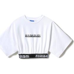 Textil Ženy Trička s krátkým rukávem Napapijri NP0A4FCO Bílý
