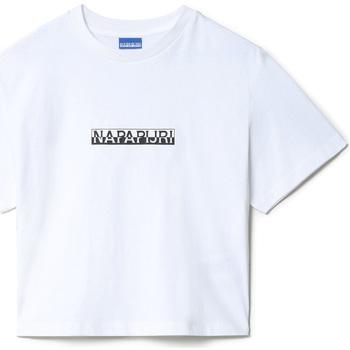 Textil Ženy Trička s krátkým rukávem Napapijri NP0A4EYZ Bílý