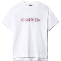 Textil Ženy Trička s krátkým rukávem Napapijri NP0A4FAF Bílý