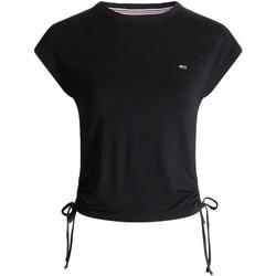 Textil Ženy Trička s krátkým rukávem Tommy Jeans DW0DW09776 Černá