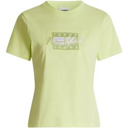 Textil Ženy Trička s krátkým rukávem Tommy Jeans DW0DW09813 Zelený
