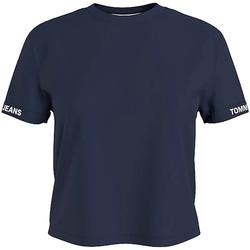 Textil Ženy Trička s krátkým rukávem Tommy Jeans DW0DW10130 Modrý