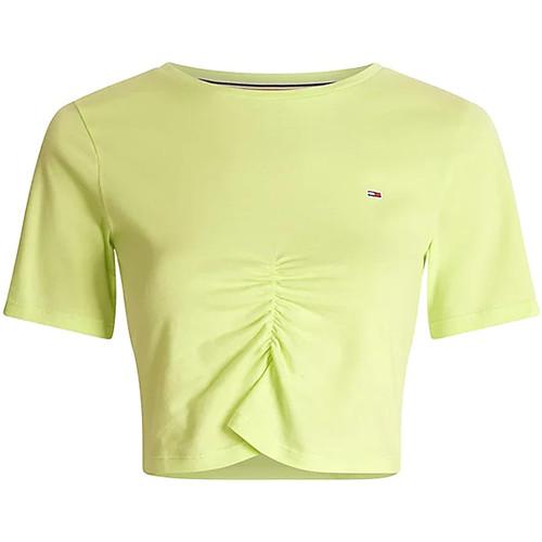 Textil Ženy Tílka / Trička bez rukávů  Tommy Jeans DW0DW10131 Zelený