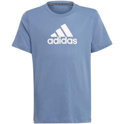Textil Děti Trička s krátkým rukávem adidas Originals GJ6641 Modrý