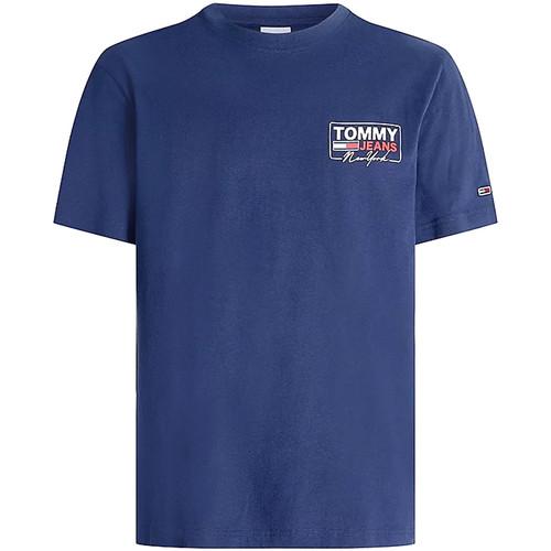 Textil Muži Trička s krátkým rukávem Tommy Jeans DM0DM10216 Modrý