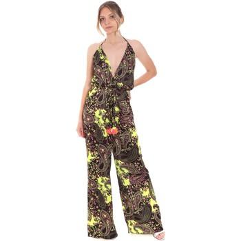 Textil Ženy Overaly / Kalhoty s laclem F * * K  Hnědý