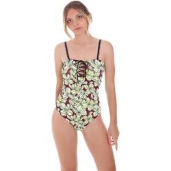 Textil Ženy jednodílné plavky F * * K  Zelený