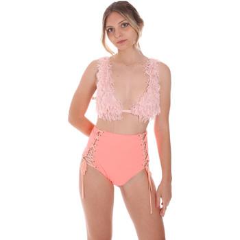 Textil Ženy jednodílné plavky F * * K  Růžový
