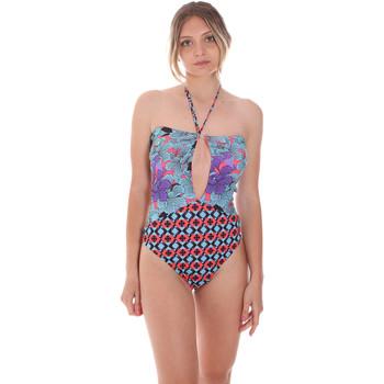 Textil Ženy jednodílné plavky F * * K  Fialový