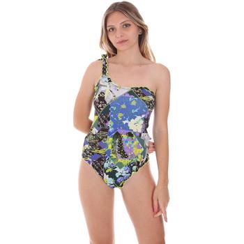 Textil Ženy jednodílné plavky F * * K  Modrý