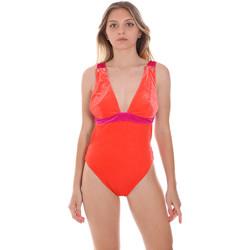 Textil Ženy jednodílné plavky F * * K  Oranžový