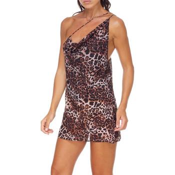 Textil Ženy Krátké šaty Me Fui M20-0456X1 Hnědý