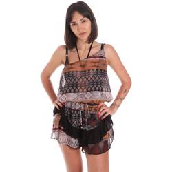 Textil Ženy Overaly / Kalhoty s laclem Me Fui M20-0060X1 Hnědý