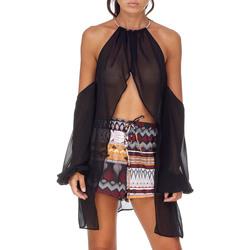 Textil Ženy Halenky / Blůzy Me Fui M20-0053NR Černá