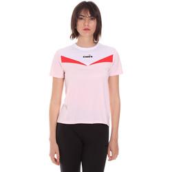 Textil Ženy Trička s krátkým rukávem Diadora 102175659 Růžový