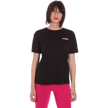 Textil Ženy Trička s krátkým rukávem Diadora 102175873 Černá