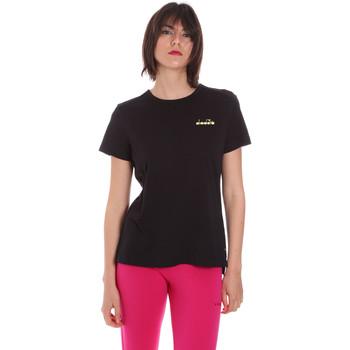 Textil Ženy Trička s krátkým rukávem Diadora 102175882 Černá