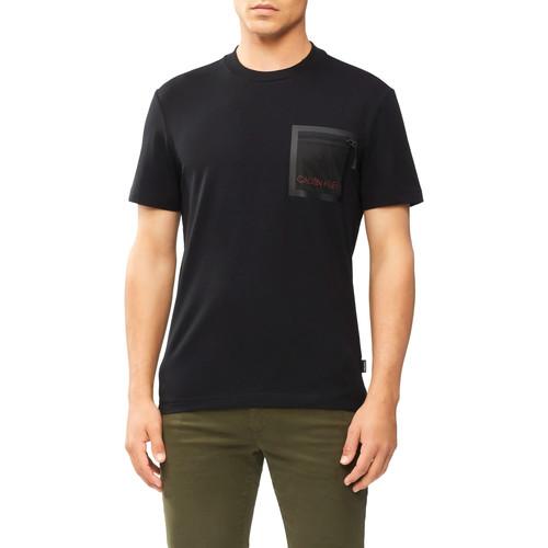 Textil Muži Trička s krátkým rukávem Calvin Klein Jeans K10K106495 Černá