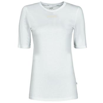 Textil Ženy Trička s krátkým rukávem Puma MBASIC TEE Bílá