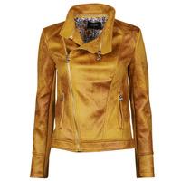Textil Ženy Kožené bundy / imitace kůže Desigual MARBLE Žlutá