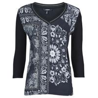 Textil Ženy Trička s krátkým rukávem Desigual VARSOVIA Černá