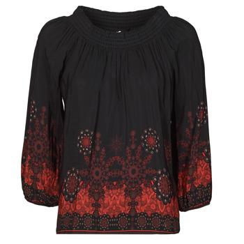 Textil Ženy Halenky / Blůzy Desigual EIRE Černá / Červená
