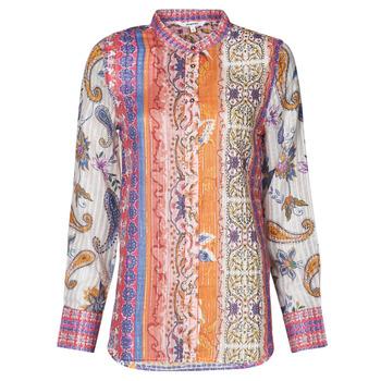 Textil Ženy Trička s dlouhými rukávy Desigual BOHO Červená