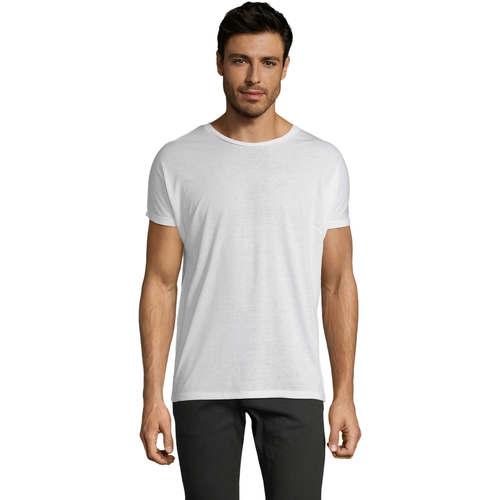 Textil Muži Trička s krátkým rukávem Sols CAMISETA HOMBRE SUBLIMACION Blanco