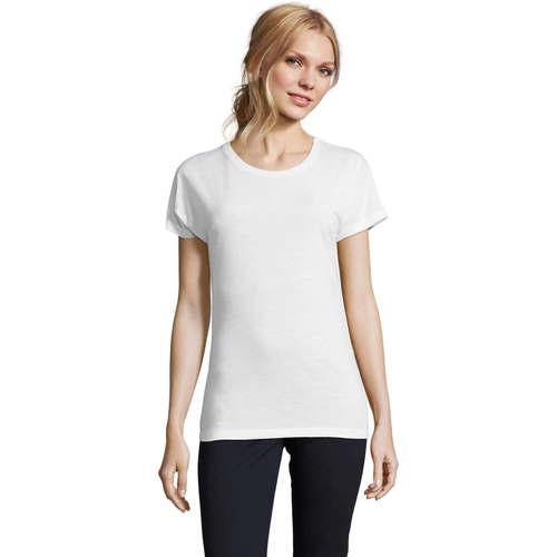 Textil Ženy Trička s krátkým rukávem Sols CAMISETA MUJER SUBLIMACION Blanco