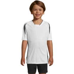 Textil Děti Trička s krátkým rukávem Sols Maracana - CAMISETA NIÑO MANGA CORTA Blanco