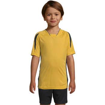 Textil Děti Trička s krátkým rukávem Sols Maracana - CAMISETA NIÑO MANGA CORTA Amarillo